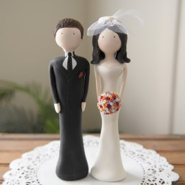 Thirty Cartoon Wedding Cake Toppers Let You Remember Many